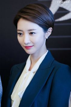 Korea's most beautiful short hair actress Gao Junxi Short Pixie Haircuts, Short Bob Hairstyles, Short Hair Cuts, Short Hair Styles, Korean Short Hair Bob, Korean Haircut, Party Hairstyles, Pixie Hairstyles, Asian Pixie Cut