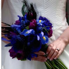 jenna, something dark like this for the bridesmaids and yours could be fuscia...?