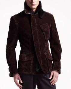 Washed Field Jacket by Giorgio Armani at Bergdorf Goodman.