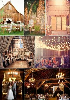 """Not sure what it is, but I find this new trend of barn weddings absolutely beautiful!  --Must be remnants of the """"country girl"""" way down deep in my soul..."""