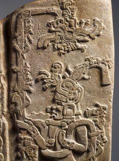 Stela detail - Early Classic, Maya, Maya area - A.D. 300–500 - Limestone | Princeton University Art Museum | Princeton University Art Museum