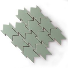 Cravat tile by Fireclay Tile. From Design Father FB page. Paving Design, Tile Design, Pattern Design, Ceramic Design, Floor Patterns, Mosaic Patterns, Textures Patterns, Pottery Workshop, Fireclay Tile