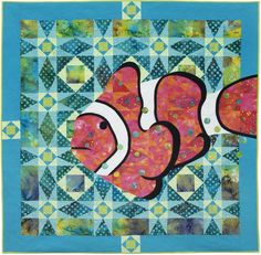 "Clown at Sea, 56"" square, Janet Fogg Quilts"