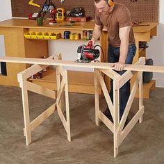 Super-Stable Folding Sawhorses | WOOD Magazine