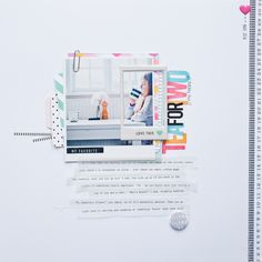 #papercrafting #scrapbooking #layout - Suse Fish | Jot | Issue 14