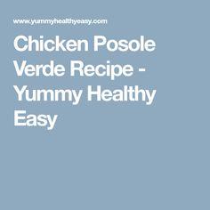 Chicken Posole Verde Recipe - Yummy Healthy Easy