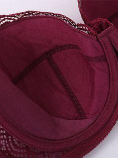 Material: poliamida Forro: algodón Diseño de la copa: completa, fina Tirantes: fijos, ajustables Cierre: 3X4 corchetes Busto incorporado: con rellenos de 0,1 cm, con aros Característica: push-up, encaje, talla grande Color: negro, nude, violeta, burdeos, cameo, azul Bustiers, Criss Cross, Lace Bustier, Bra Lingerie, Bra Styles, Cotton Lace, How To Get Money, Sensual, Free Gifts