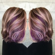 "Jessica Warburton on Instagram: ""She wanted to completely change her look and add pretty pops of purple. We chose warm golds and Browns as a complete opposite from the ashy…"""