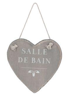 Plaque de porte coeur en bois, 13 x 13 cm