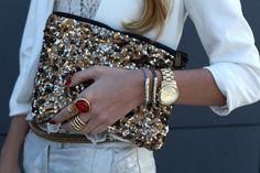 Zara glitter clutch