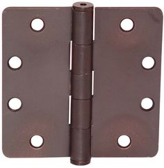 "Emtek 92025 4.5"" x 4.5"" Plain Bearing 1/4"" Radius Corners Mortise Hinge - Pair Oil Rubbed Bronze Door Hinge Plain Bearing 4 1/2 x 4 1/2"