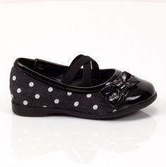 Polka Dot Flat with Bow