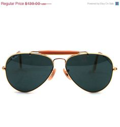 Vintage Ray Ban  Bausch and Lomb Aviator Outdoorsman Sunglasses 58 mm