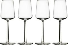 Iittala Essence White Wine Glasses (Set of - The Essence glasses have become a true demonstration of thoughtful design. Standing next to each other, they create a wonderful sense of balance.