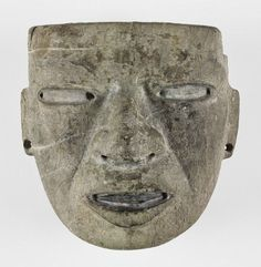 Mask Alternate Title: Large Mask with Hollow Eyes, Open Mouth Sculpture , Mask Mexican , 3rd-7th century Creation Place: Teotihuacan, Mexico Gray limestone with traces of polychromy