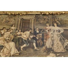 Antique Rococo Style Genre Scene 1900s Victorian Hand Tinted... (€375) ❤ liked on Polyvore featuring home, home decor, wall art, new york home decor, ny wall art and new york wall art
