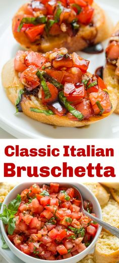 Tomato Appetizers, Finger Food Appetizers, Yummy Appetizers, Party Appetizer Recipes, Finger Foods For Party, Italian Dishes, Italian Recipes, Italian Snacks, Italian Bruschetta Recipe