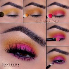 Would you rock this or not?Summer Glow Up Online Makeup Class will be closed soo. - Make Up Makeup Eye Looks, Eye Makeup Steps, Cute Makeup, Skin Makeup, Eyeshadow Makeup, Motives Makeup, Matte Eyeshadow, Gorgeous Makeup, Eyeshadow Palette