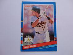Walt Weiss Donruss 91 Baseball Card.