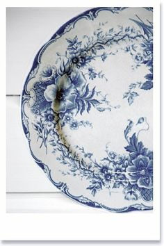 antique transferware plate