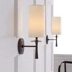 Aerin Drunmore Single Sconce Bronze Wall Light with White Linen Shade – hallway Wall Lights, Hallway Walls, Lights, Wall Sconces Living Room, Wall Sconce Hallway, Cottage Lighting, Wall Sconce Lighting, Living Room Lighting, Light Living Room Colors