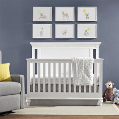 Avenue Greene Soho White 4-in-1 Convertible Crib