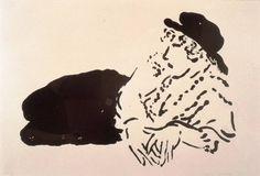 "David Hockney ""Celia"" (Celia Birtwell reclining), crayon lithograph."