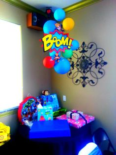 SuperHero Pop Art Comic Birthday Party Ideas   Photo 1 of 97   Catch My Party