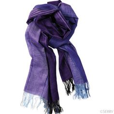 Scarves - Purple Camari Scarf Camari means 'gift' in Quechua. Give the gift of a fair wage for the Ecuadorian artisans who make this soft acrylic scarf in hues just perfect for spring. Hand wash cold, line dry. 73in. l x 22in. w (Made in Ecuador) $24