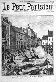 Couverture du Petit Parisien.fusillade de Fourmies 1er mai 1891