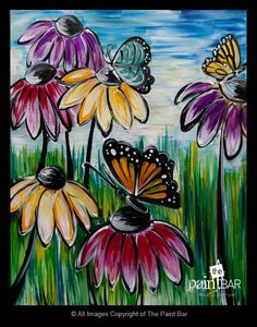 Beautiful Butterflies Painting - Jackie Schon, The Paint Bar