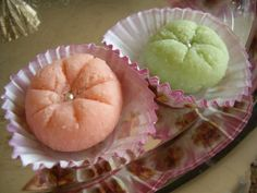 Algerian Sweets.. Harissa cookies, made with almonds and orange blossom water.