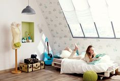 Collection : GIRLS ONLY / Paris #Papierpeint #decoration #interieur #fille #girl #douceur #reve #Caselio  http://www.caselio.fr