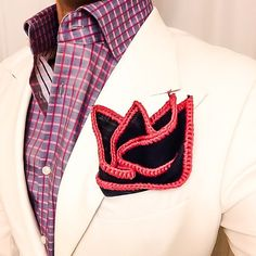 Theres nothing better than a #sebastiancruzcouture pocket square. Be Bold!