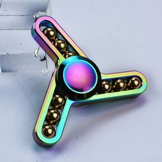New colorful ball fidget spinner hand spiner toys Ball Rainbow Aluminium Alloy Hand Spinner EDC ADHD finger spinner Toy Gift Figet Spinners, Cool Fidget Spinners, Metal Fidget Spinner, Adhd And Autism, Add Adhd, Stress Toys, Stress Relief Toys, Hand Fidgets, Jitter Glitter