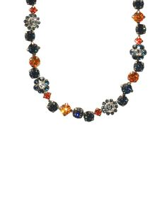 Classic Crystal Floral Necklace - Collegiate Collection in Battle Blue by Sorrelli - $167.50 (http://www.sorrelli.com/products/NBE2ASBTB)