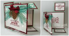 #1 Dutch Fold Christmas card Dawn Griffith