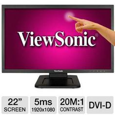 "ViewSonic 22"" Class LED Touchscreen Monitor"