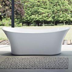 Bathlife Badkar Stadig Vit 1800x800x670mm   Stonefactory.se Bathtub, Bathroom, Design, Products, Standing Bath, Washroom, Bathtubs, Bath Tube, Full Bath