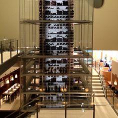 Cool wine rack. Mandalay Bay, Las Vegas, NV.
