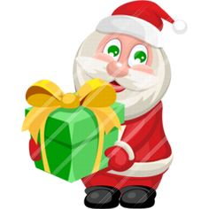 Santa Claus give you gifts.