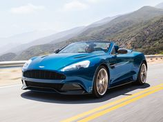 Aston Martin Vanquish Volante is the brand's first convertible with a complete carbon-fiber body