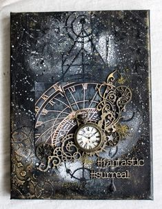 Gorgeous rich texture, colours and designYou can find Altered canvas and more on our website.Gorgeous rich texture, colours and design Mixed Media Artwork, Mixed Media Collage, Mixed Media Canvas, Altered Canvas, Altered Art, Altered Tins, Art Journal Pages, Art Journals, Art Journal Covers