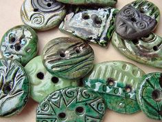 Buttons Green by Lisa Peters Art, via Flickr