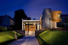 Residential, Private house in Atlanta, GA, (United States) by Surber Barber Choate + Hertlein Architects #QuartzZinc #USA #Façade #Facade #Zinc #VMZINC #Architecture #Project