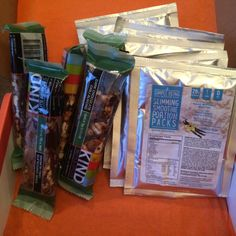 I loaded up my munchie cabinet with my build your own @bulubox my faves: Kind Nuts & Spices Dark Chocolate Chili Almonds and Simple Being slimming Smoothies ! Review at subscriptionist.com