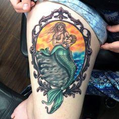 Mermaid Breastfeeding tattoo.