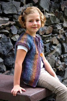 Radiant Vest For Child-Teen By Meghan Jones - Free Knitted Pattern - (ravelry)