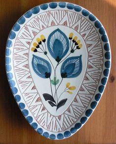 Keramikk: Elle (norsk-produsert keramikk fra 1947-1967). Eggformet fat