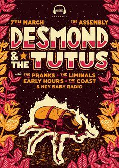 Desmond & The Tutus Poster on Behance